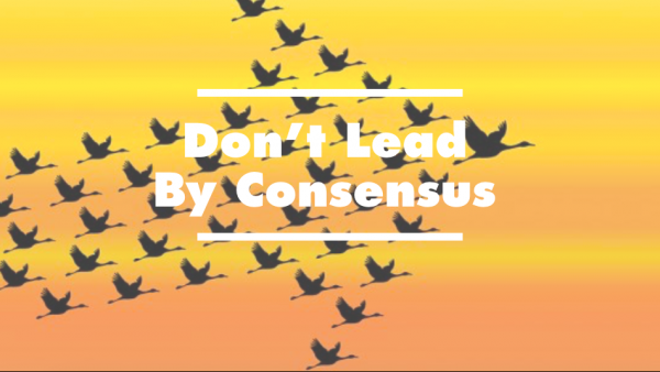 Don't Lead By Consensus